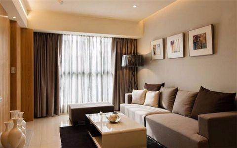 银锣湾60平原木现代两居室效果图