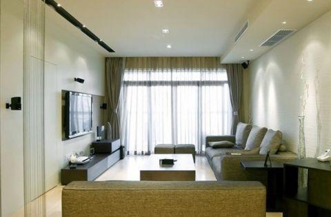江山如画100平三居室现代简约风格效果图