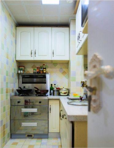 厨房田园风格装潢效果图