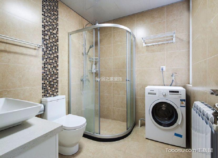 卫生间橙色背景墙简约风格装饰图片