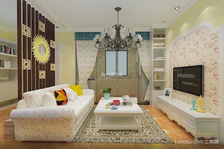 2020歐式田園90平米裝飾設計 2020歐式田園二居室裝修設計