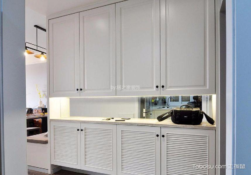 玄关白色鞋柜现代简约风格装修图片