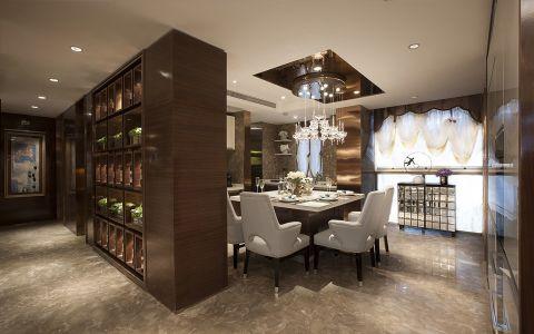 餐厅博古架现代风格装修效果图