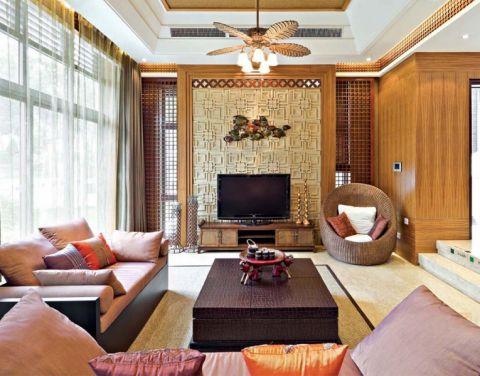 天润国际东南亚风格复式装修案例