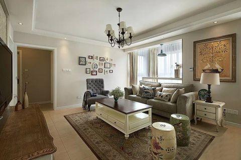 2019美式120平米装修效果图片 2019美式三居室装修设计图片