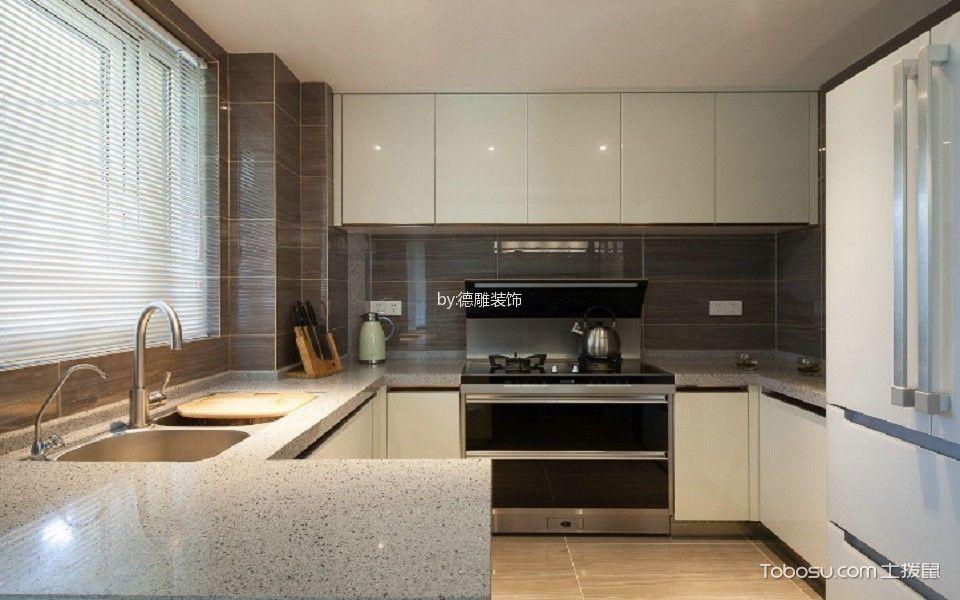 厨房白色餐桌现代简约风格装修设计图片