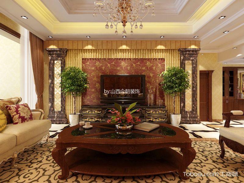 天鹅堡200平古典奢华风格装饰图