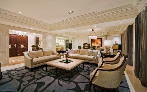 香格里拉4居室欧式风格效果图