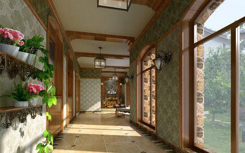 阳台门厅新古典风格装饰效果图