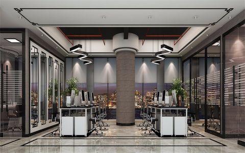 广州海珠区保利叁悦广场B塔办公室新中式风格装修效果图