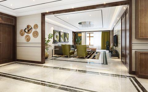 客厅门厅现代简约风格装潢效果图