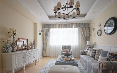 客厅窗帘田园风格装饰设计图片