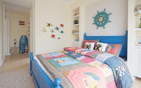 儿童房背景墙田园风格装潢效果图