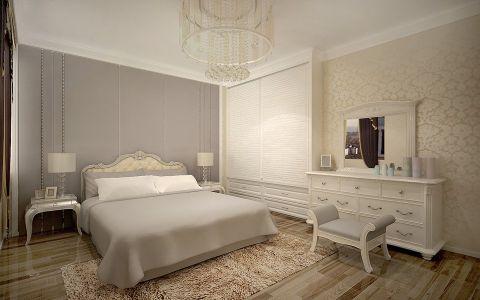 卧室背景墙欧式田园风格装潢设计图片