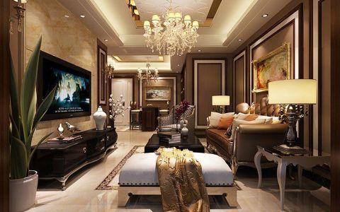 芜湖颐景湾畔110平欧式古典风格装修案例效果图
