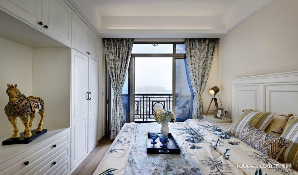 卧室背景墙美式风格装修图片图片