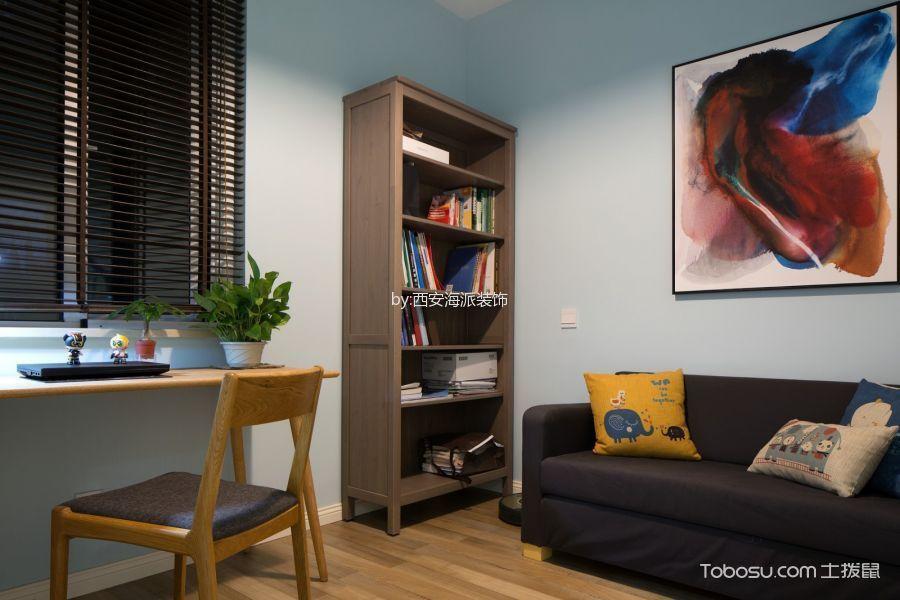 客厅黄色书桌现代简约风格装饰效果图