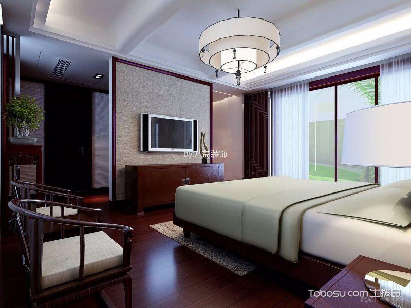 卧室红色电视柜欧式风格装潢设计图片