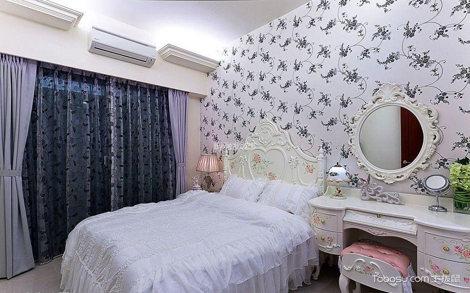 卧室白色梳妆台新古典风格效果图
