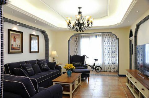 这个客户由于自身职业非常喜欢放松的状态在家,整体风格选用地中海,每个地方的拱形造型很吸引人。