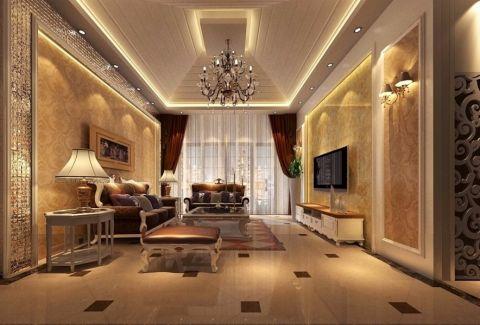 华润凯旋门三居室大户型欧式风格设计效果图
