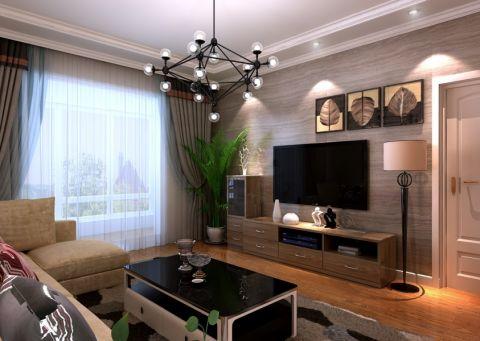 客廳背景墻房屋現代簡約設計效果圖