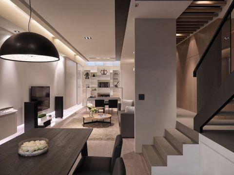 翡翠花园复式楼层现代风格案例效果图