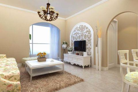 此设计布置格局合理拥有两室一厅一厨一卫,适合于温馨小家庭三口之家居住,也适用于年青白领居住;这样亲近于自然的现代田园设计可以让忙碌的你们有回到自然的感觉。