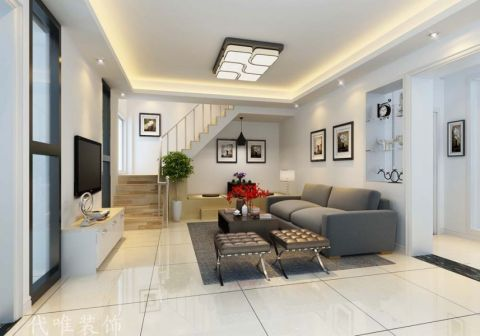 泗门古塘公寓现代简约风格装修效果图