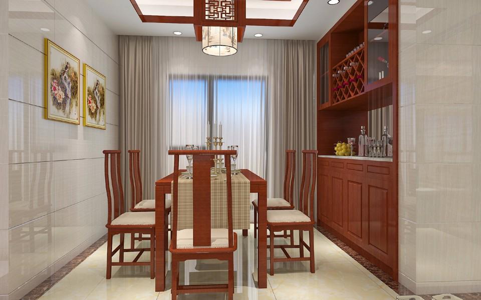 4室2卫2厅114平米中式风格