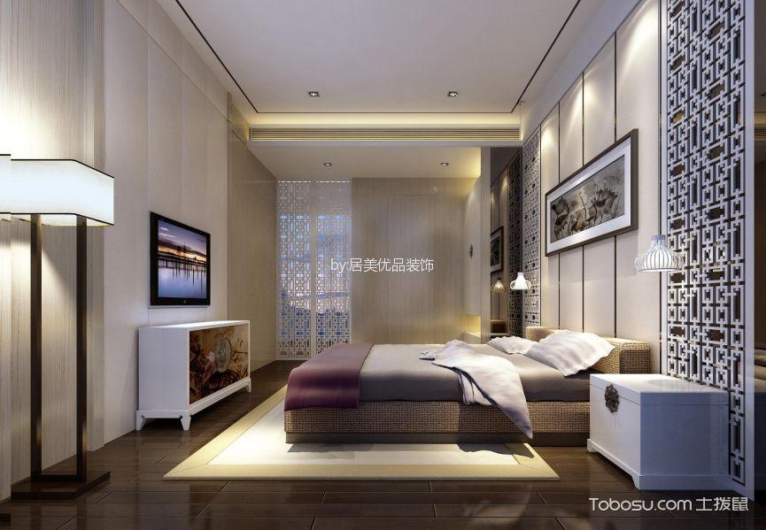 北京公园110平米新中式风格三居室装修效果图