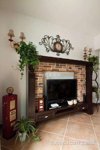 客厅 背景墙_伊莎卡国际城114平美式田园风格装饰效果图