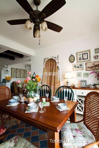 餐厅 照片墙_伊莎卡国际城114平美式田园风格装饰效果图