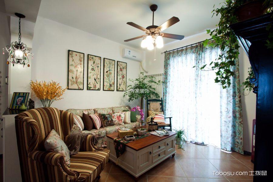 客厅 吊顶_伊莎卡国际城114平美式田园风格装饰效果图