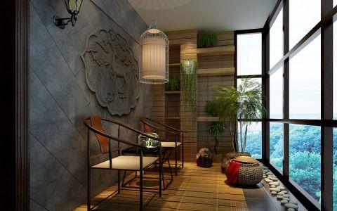 2021新中式90平米效果图 2021新中式三居室装修设计图片