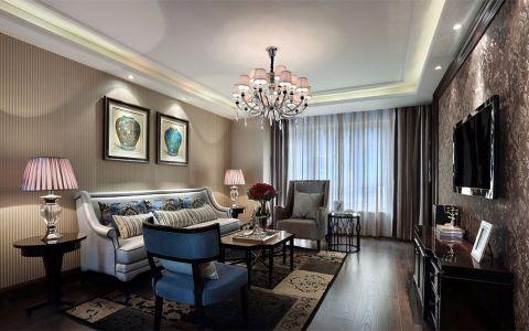 2021新古典100平米图片 2021新古典三居室装修设计图片