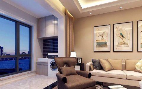 2021现代简约90平米效果图 2021现代简约二居室装修设计