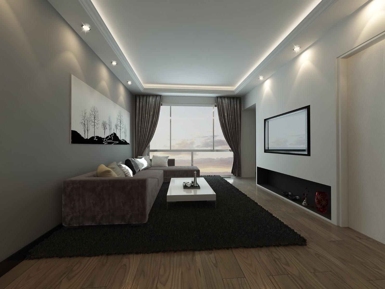 2室1卫1厅68平米现代风格