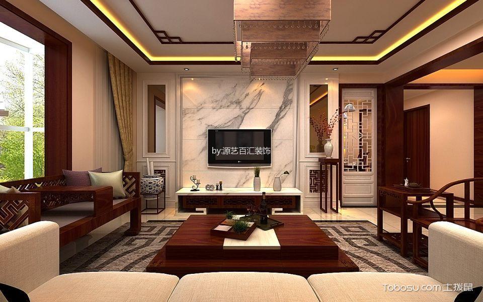 颐龙湾145平米简中式装修风格效果图