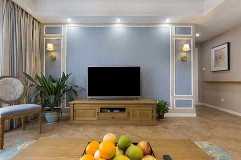 东沙公寓美式半包138平三居室装修设计图