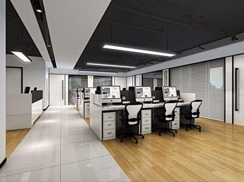 浙江佰鑫资产管理有限公司50万预算办公室工装装修效果图