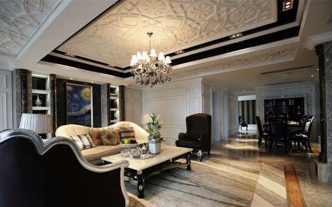 2020新古典150平米效果图 2020新古典三居室装修设计图片