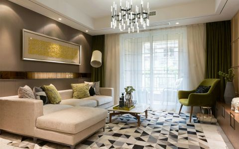 客厅背景墙房屋现代简约设计图
