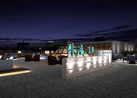 万江外滩18号海景餐吧欧式工装装修效果图