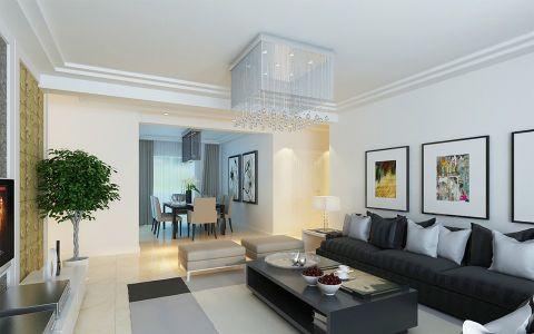 东海国际公寓现代式装修案例鉴赏图