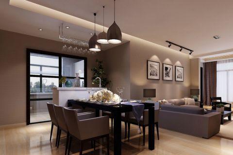 餐廳吊頂房屋現代簡約設計效果圖
