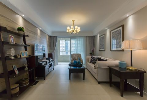 复地悦城117平三室两厅一卫简约美式风格实景图