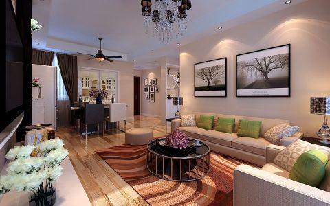 2020现代简约110平米装修图片 2020现代简约三居室装修设计图片