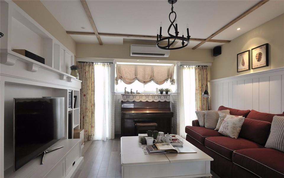 2室1卫1厅102平米田园风格