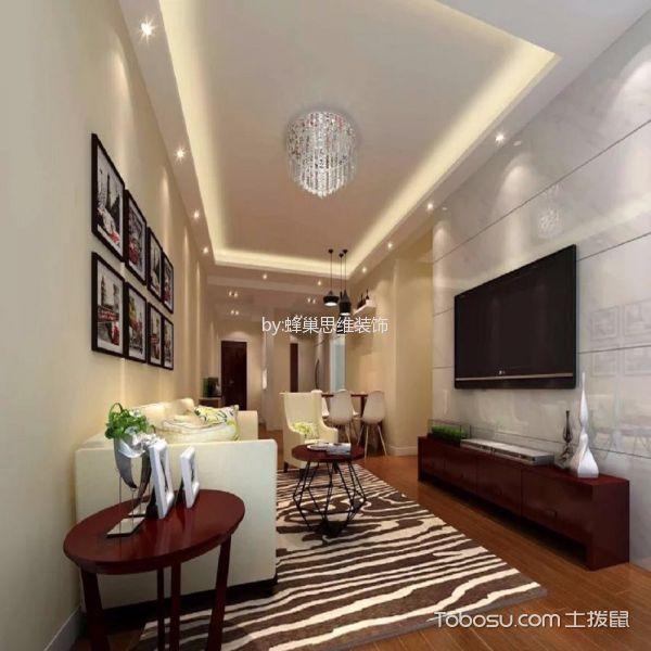 80平二居室中式风格装修效果图